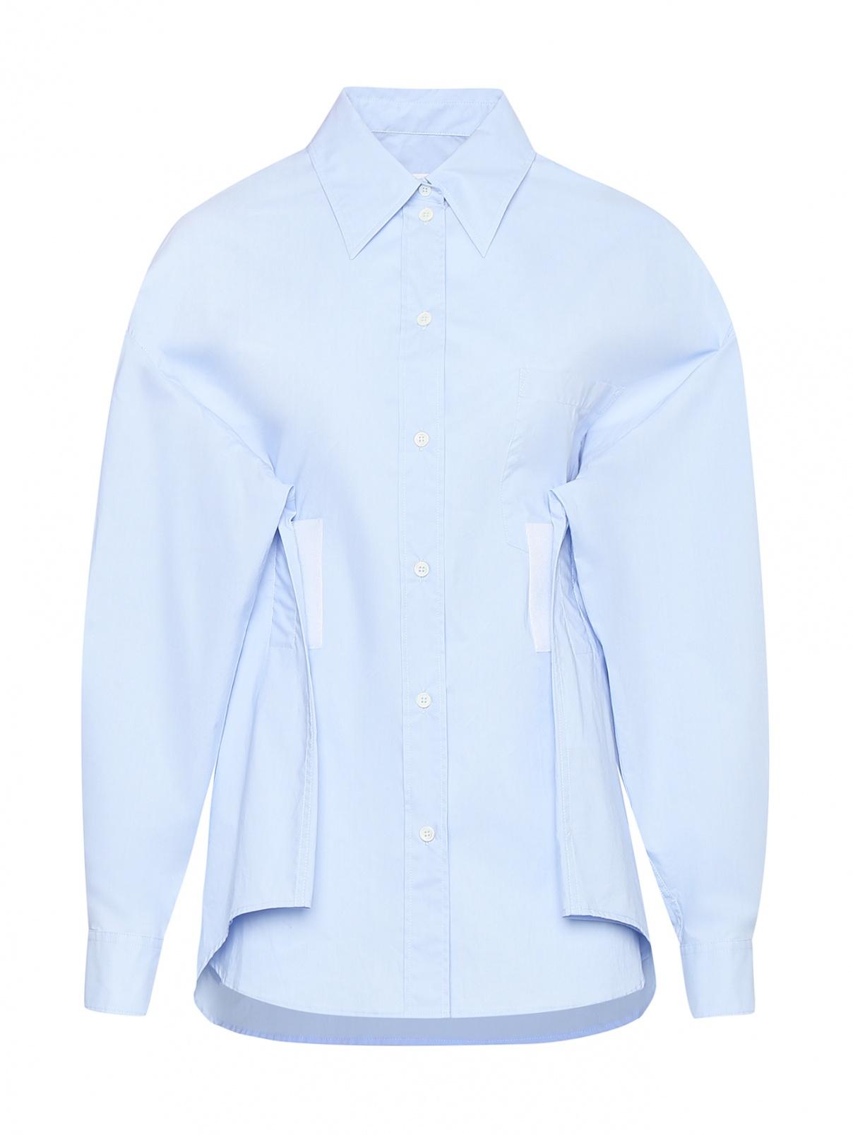 Рубашка из хлопка с липучками MM6  –  Общий вид
