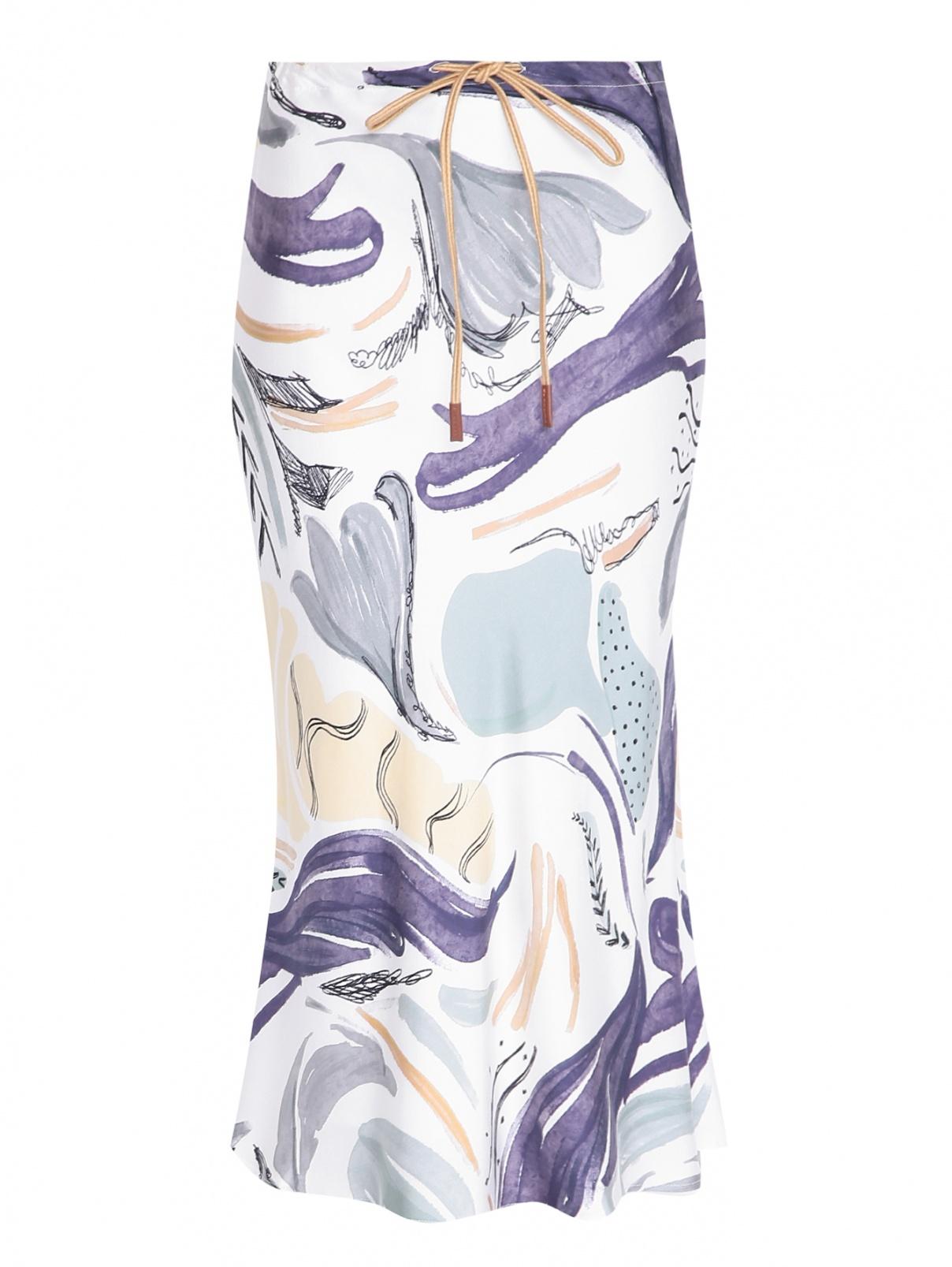 Юбка из шелка с узором Alysi  –  Общий вид