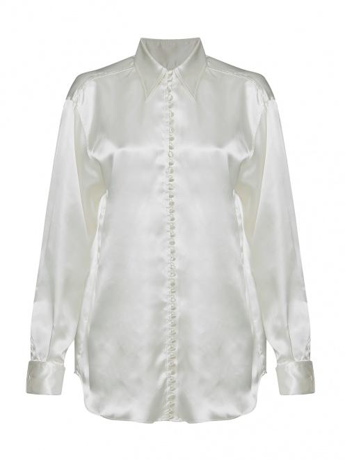 Блуза из вискозы с принтом MM6 - Общий вид