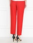 Укороченные брюки с боковыми карманами из льна Ermanno Scervino  –  МодельВерхНиз1