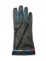 Перчатки из гладкой кожи с контрастной отделкой Etro  –  Обтравка1