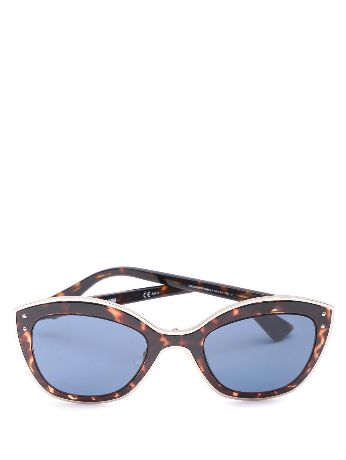 Очки солнцезащитные в металлической оправе с узором Moschino  –  Общий вид