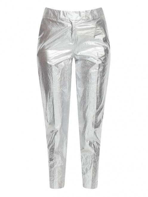 Укороченные брюки из хлопка с боковыми карманами - Общий вид