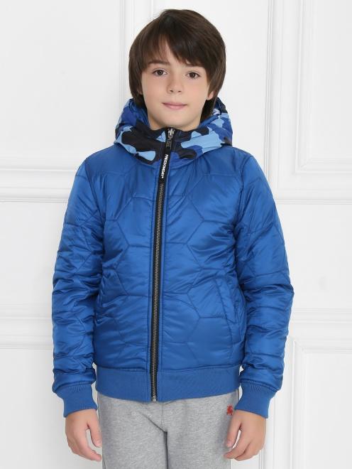 Куртка двухсторонняя с капюшоном - МодельОбщийВид1