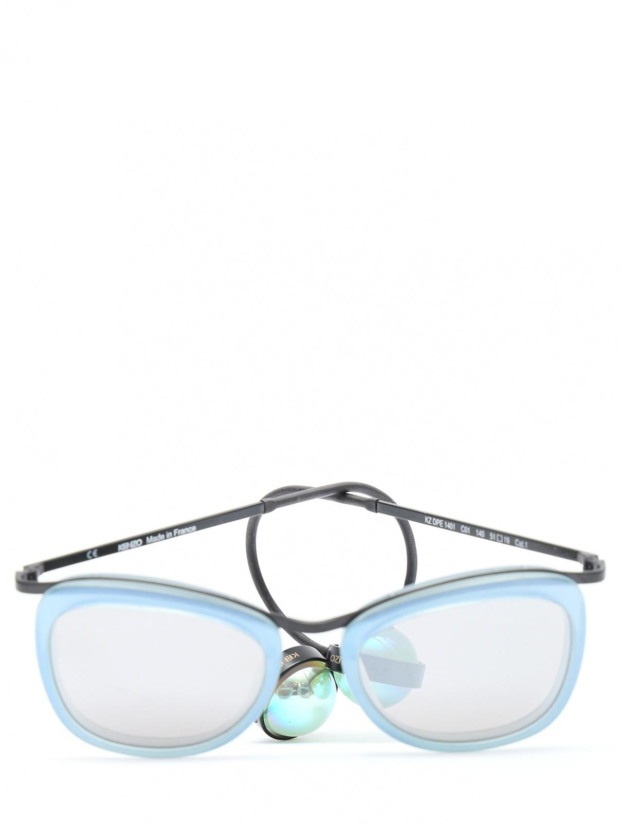 Солнцезащитные очки с декоративными дужками Kenzo  –  Общий вид