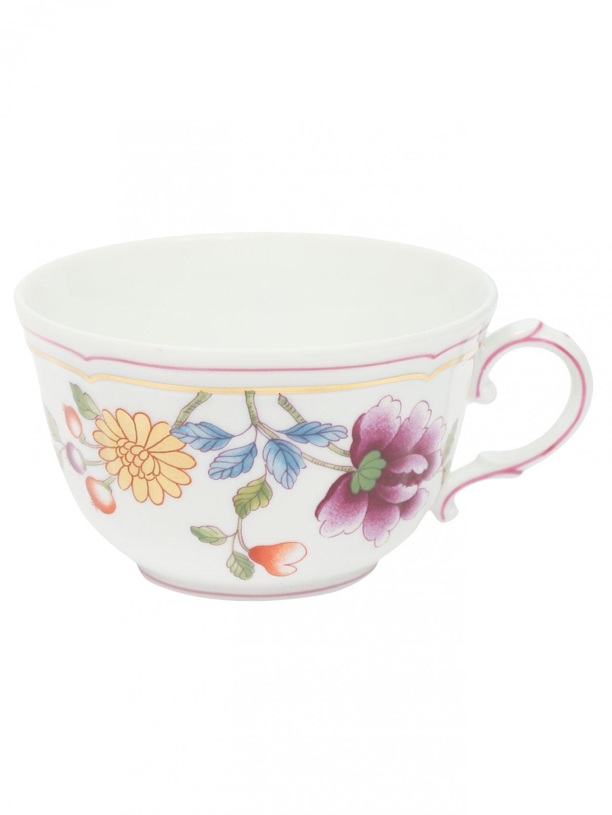Чайная чашка цветочным узором и окантовкой Richard Ginori 1735  –  Общий вид