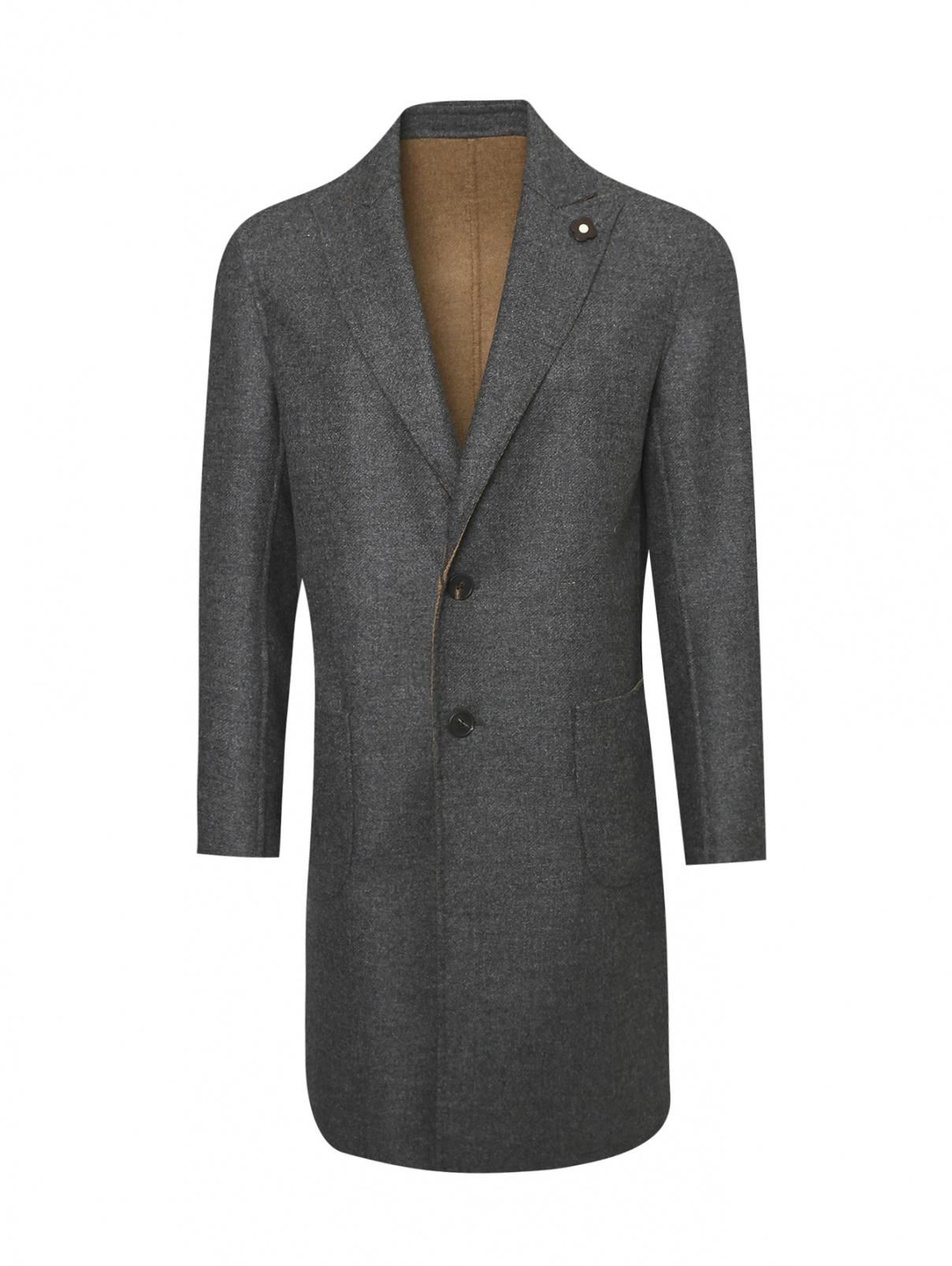 Пальто однобортное из шерсти LARDINI  –  Общий вид