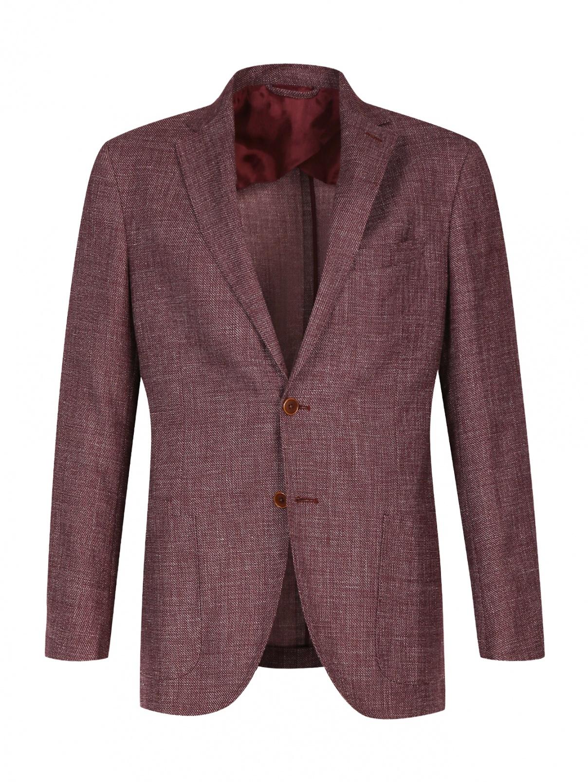 Пиджак однобортный из смешанной шерсти Luciano Barbera  –  Общий вид
