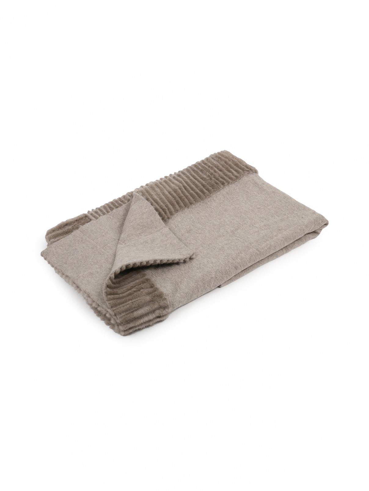 Плед из кашемира и шерсти с окантовкой из меха норки 180 x 140 Agnona  –  Общий вид