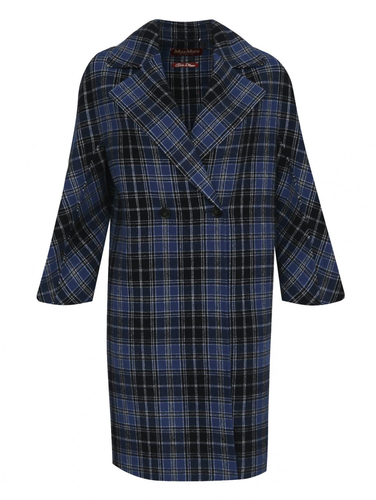 Пальто из шерсти с узором клетка Max Mara  –  Общий вид