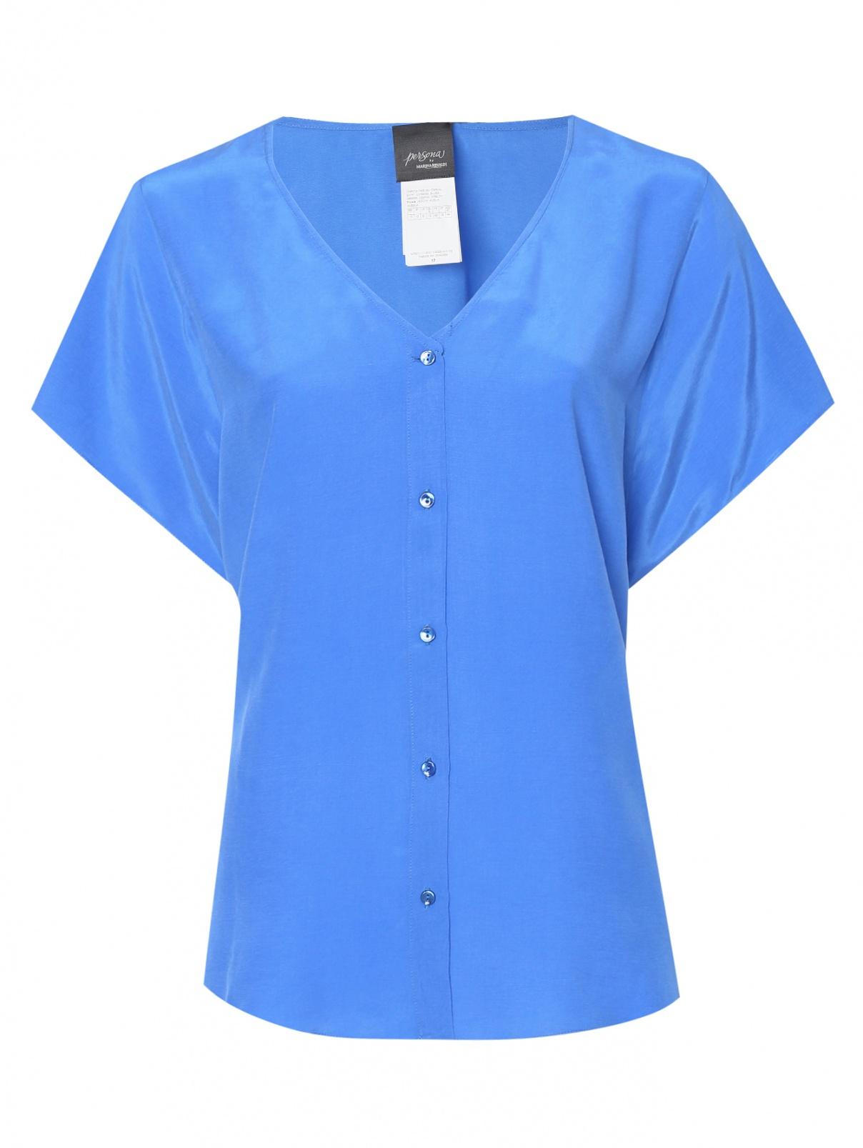 Блуза из смешанной вискозы на пуговицах Persona by Marina Rinaldi  –  Общий вид