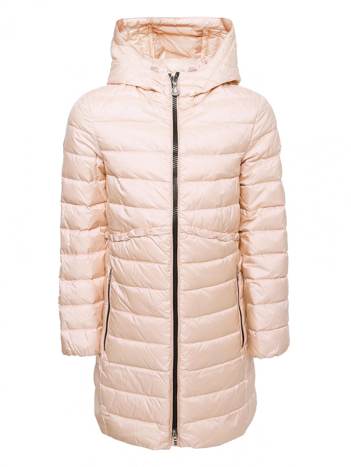 Пальто стеганое с капюшоном Moncler  –  Общий вид