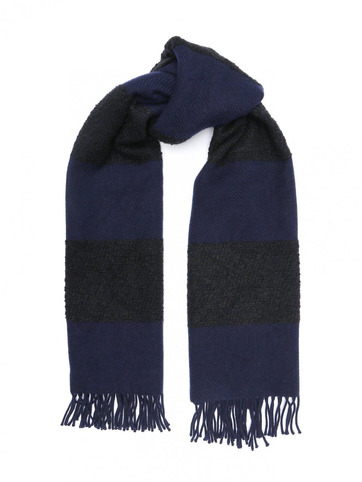 Шарф из шерсти кашемира и шелка с бахромой Begg Scotland  –  Общий вид