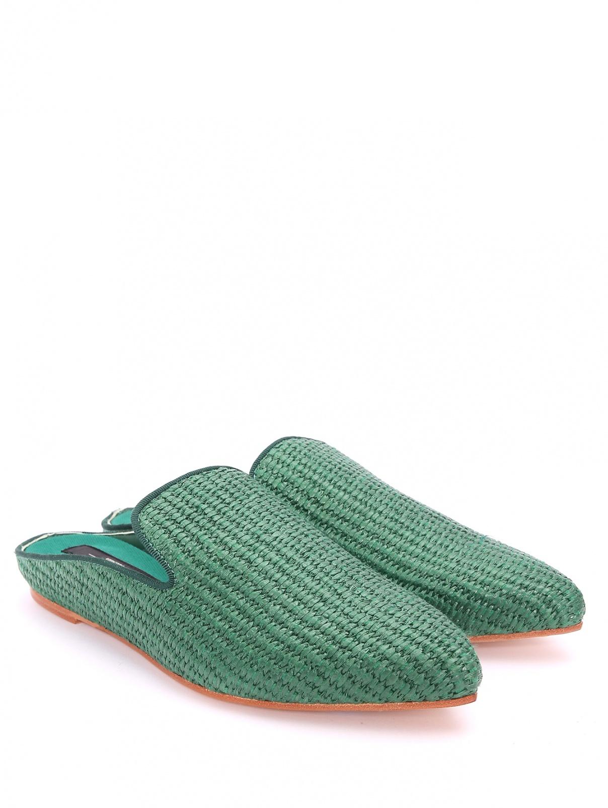 Плетеные мюли из текстиля Weekend Max Mara  –  Общий вид