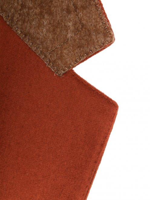 Однобортный пиджак из кашемира  - Деталь