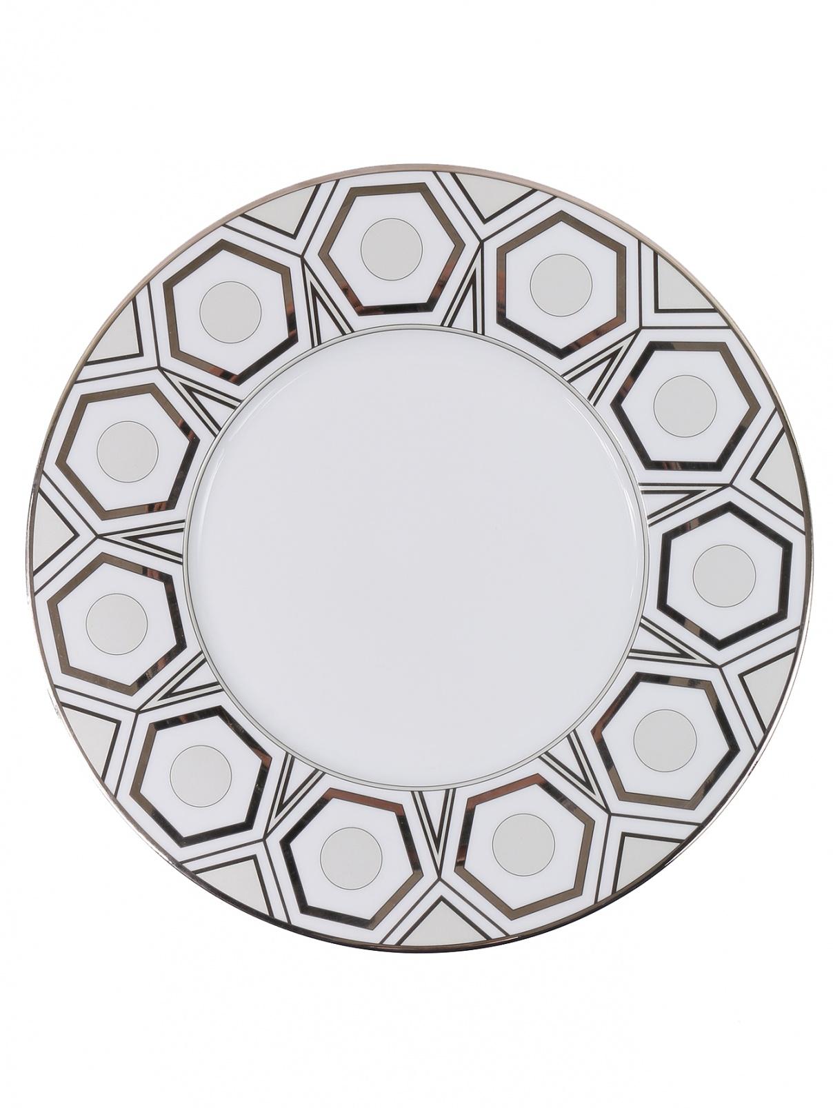 Тарелка обеденная с графичным узором Haviland  –  Общий вид
