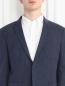 Пиджак однобортный из хлопка с узором Sand  –  Модель Общий вид1