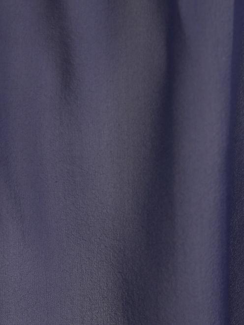 Топ из шелка с накладным карманом - Деталь1