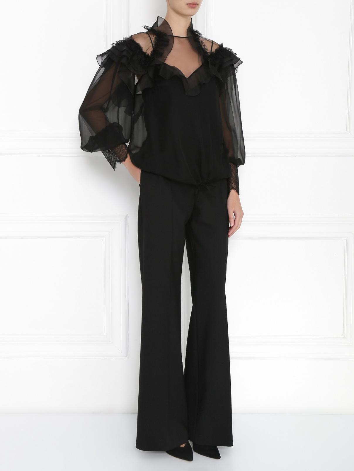Широкие брюки из смесовой шерсти Alberta Ferretti  –  Модель Общий вид