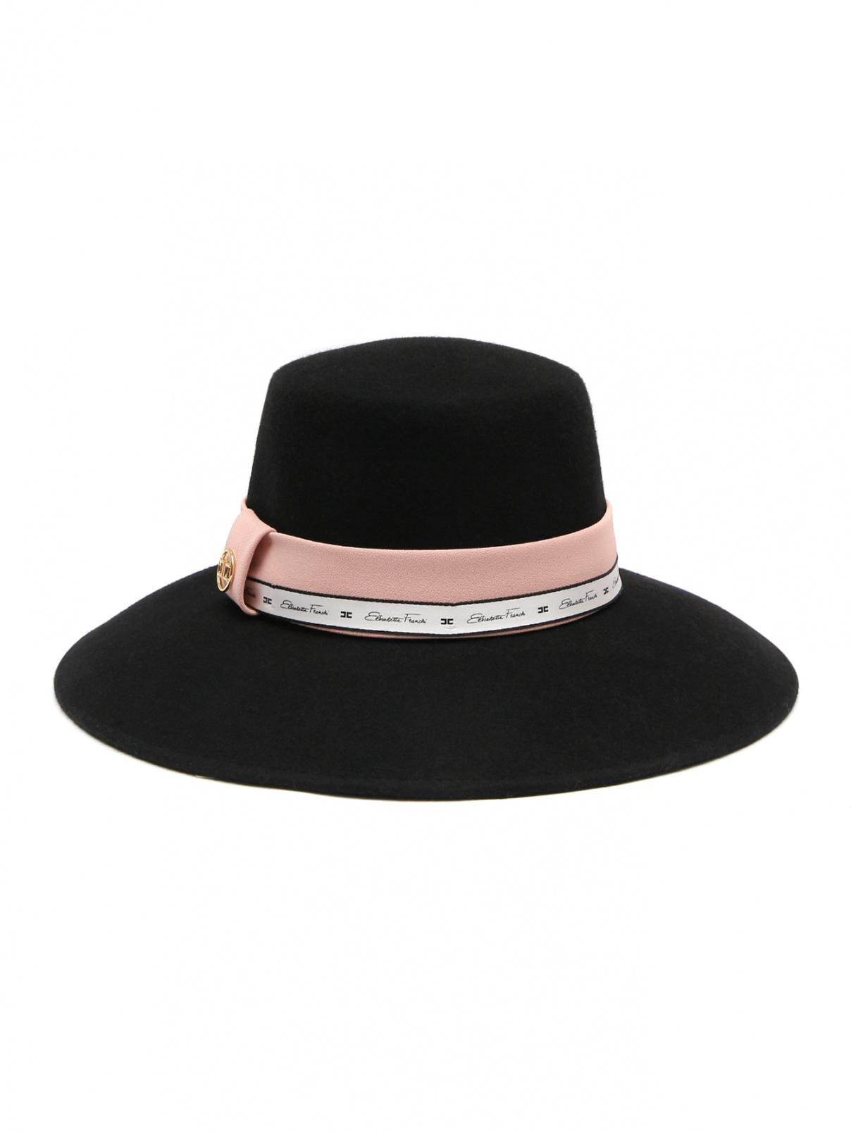 Шляпа с контрастной лентой Elisabetta Franchi  –  Общий вид