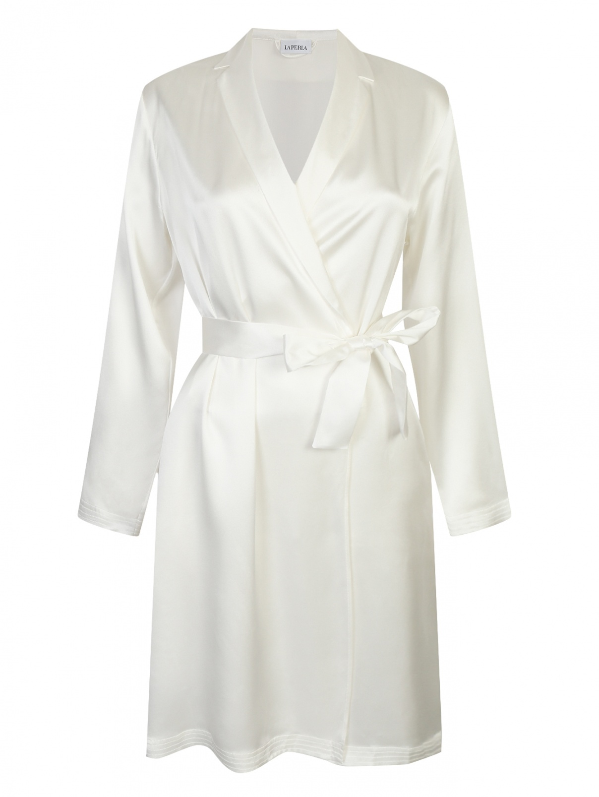 Короткий халат из шелка La Perla  –  Общий вид