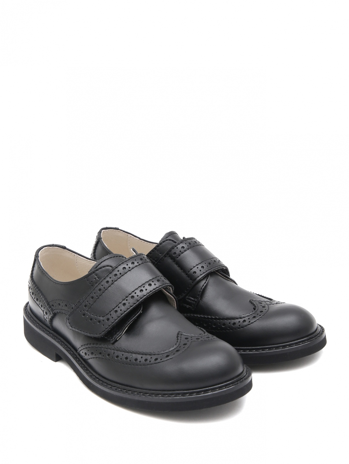 Кожаные туфли на липучке MONTELPARE TRADITION  –  Общий вид