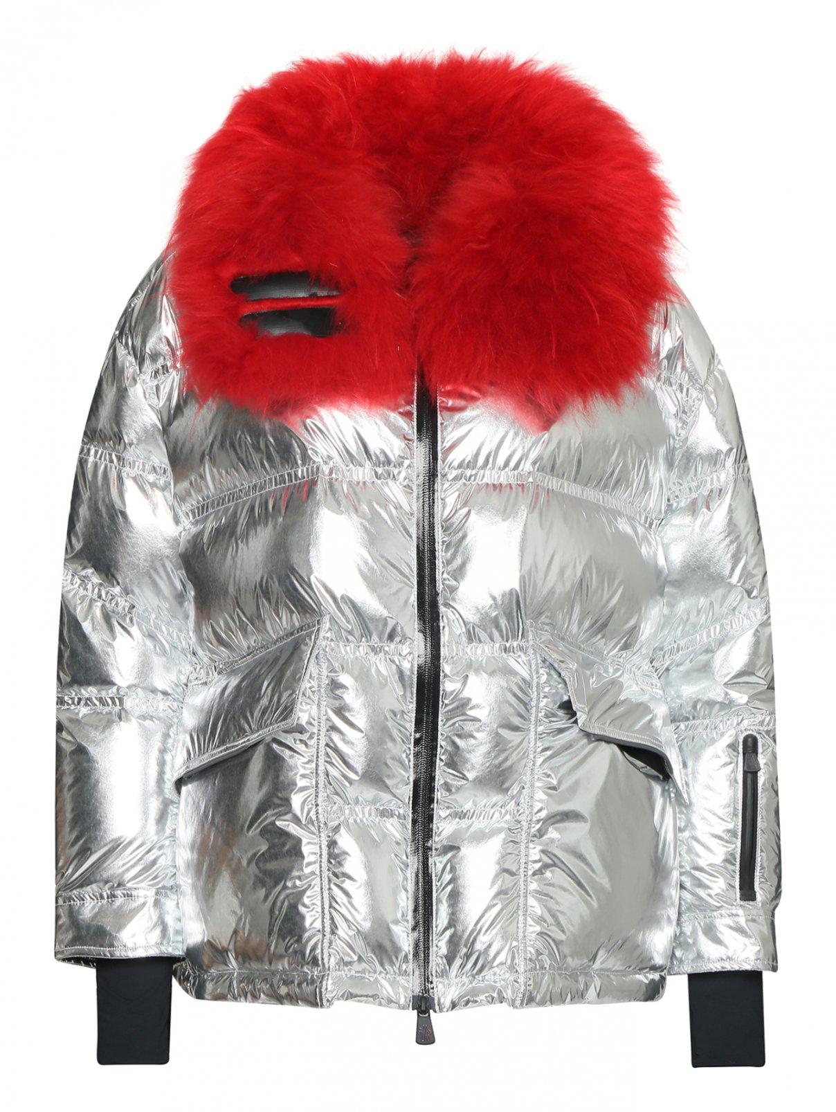 Куртка пуховая стеганая с отделкой мехом Moncler  –  Общий вид