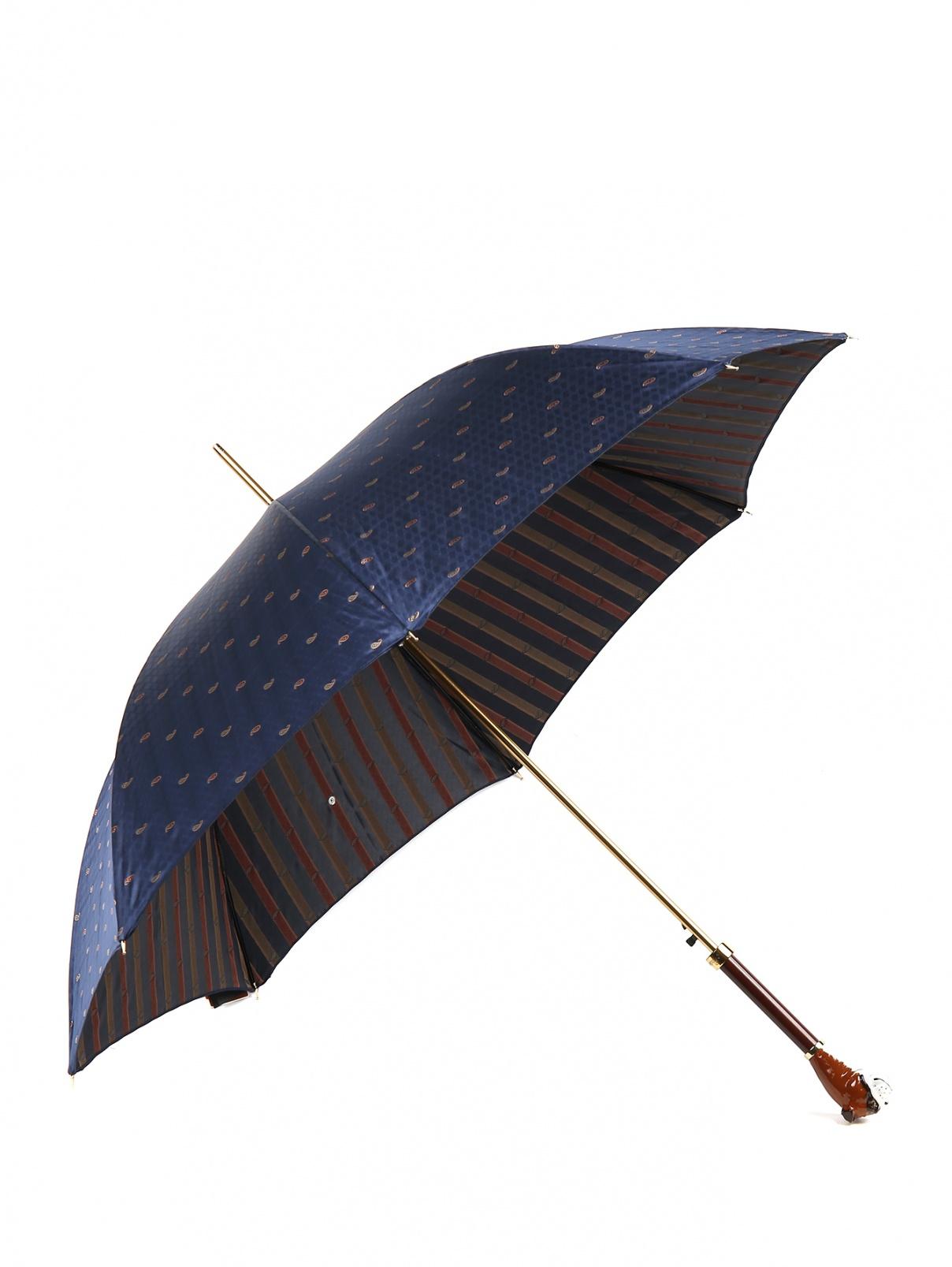 """Зонт-трость с узором """"пейсли"""" Pasotti  –  Общий вид"""