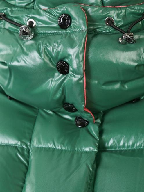 Укороченный стеганый пуховик Moncler - Деталь1