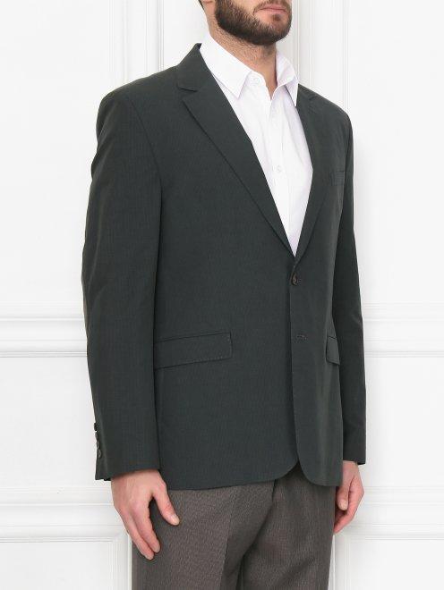 Пиджак из хлопка и льна - МодельВерхНиз
