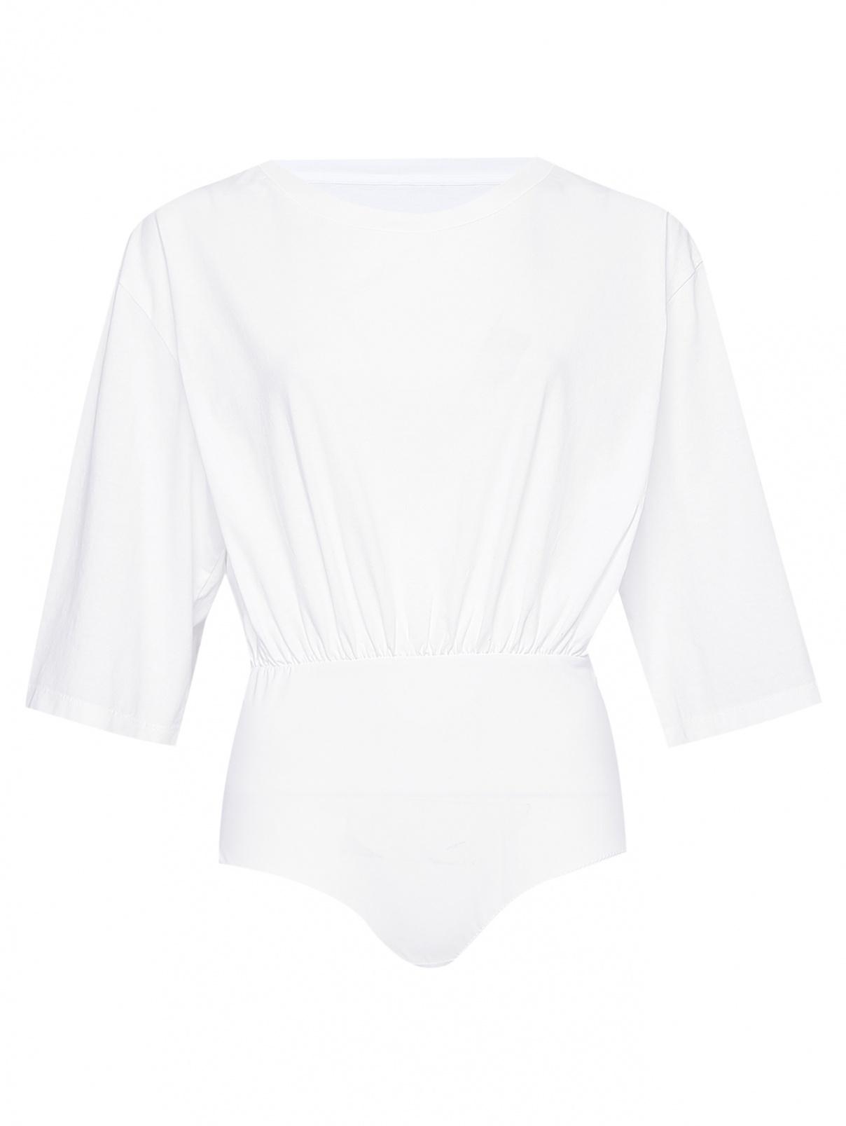 Боди-футболка из хлопка свободного кроя MM6  –  Общий вид