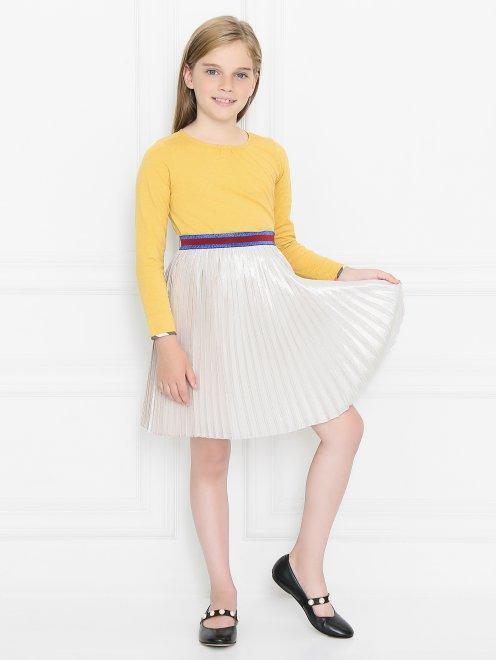 Плиссированная юбка на резинке - Общий вид