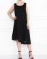 Платье из льна с декоративной отделкой без рукавов Marina Rinaldi  –  МодельОбщийВид