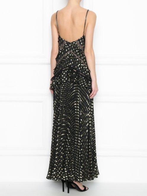 Платье-макси без рукавов с плиссированной юбкой - МодельВерхНиз1