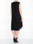 Платье из льна с декоративной отделкой без рукавов Marina Rinaldi  –  МодельВерхНиз1