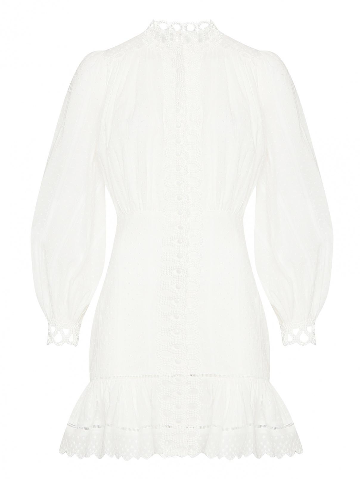 Платье-мини из хлопка с вышивкой Elliatt  –  Общий вид