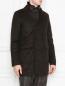 Пальто двубортное из шерсти Moorer  –  МодельВерхНиз