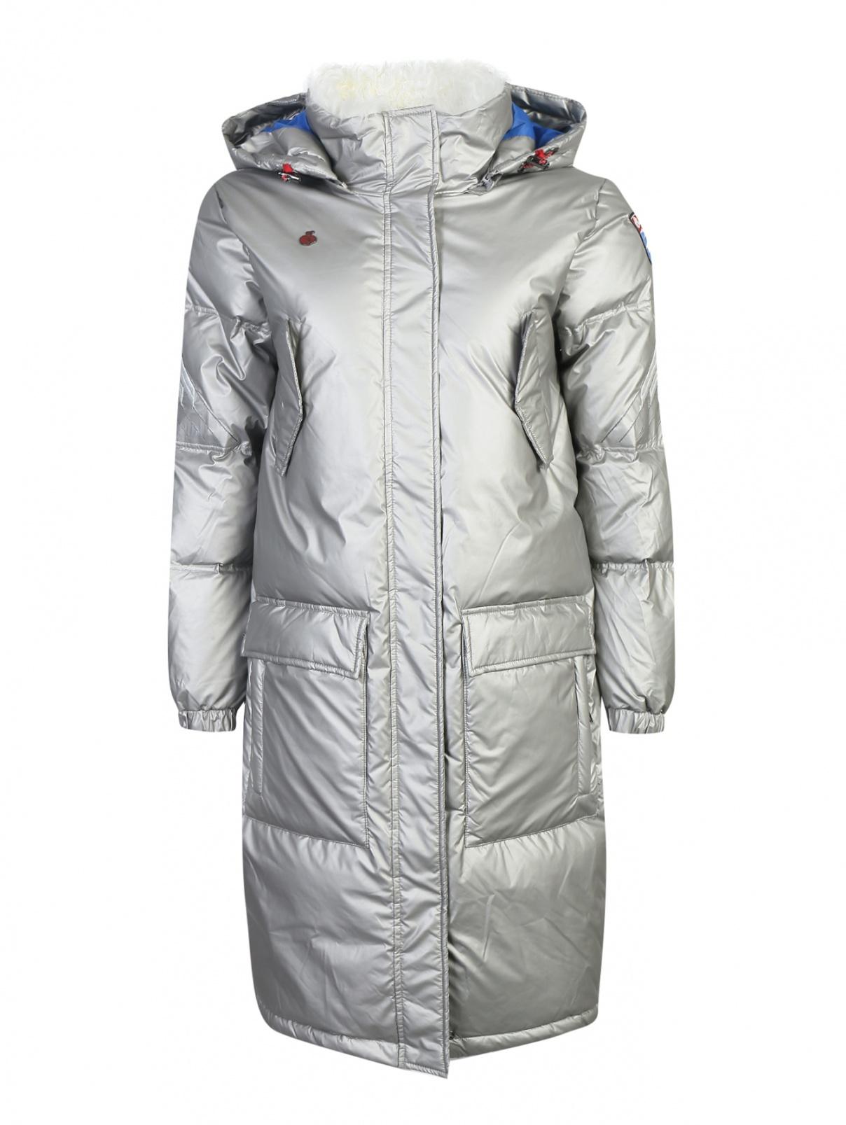 Удлиненное пуховое пальто с капюшоном Bosco Sport  –  Общий вид
