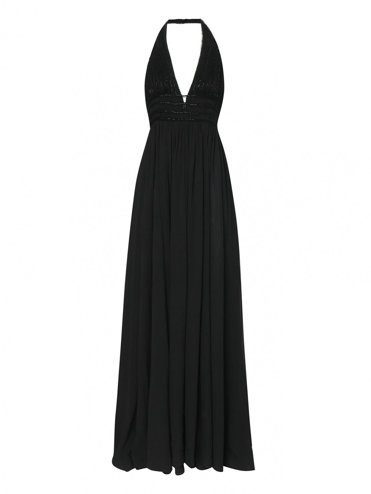 Платье-макси из шелка декорированное бисером La Perla  –  Общий вид