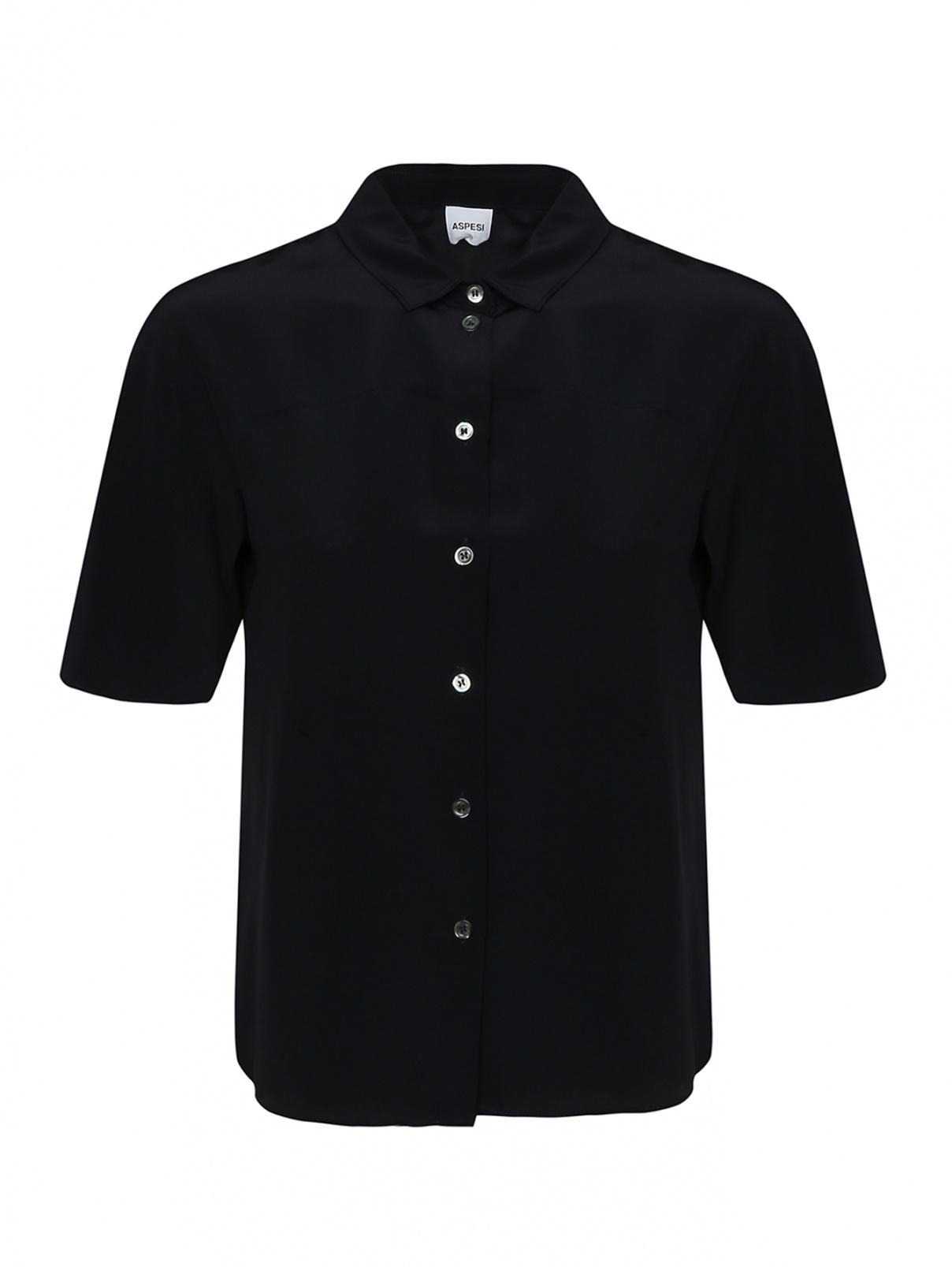 Рубашка шелковая с коротким рукавом Aspesi  –  Общий вид