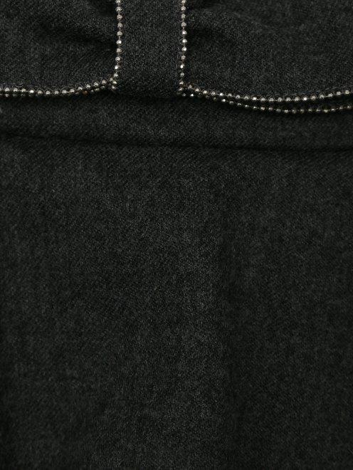 Юбка из шерсти с воланами - Деталь