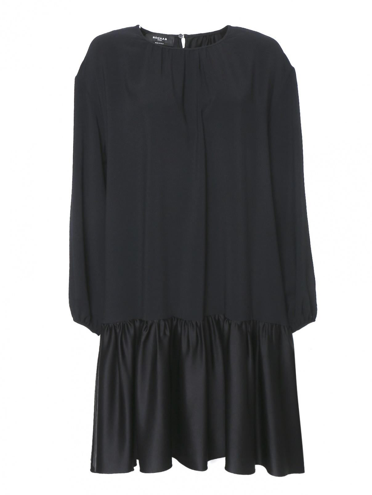 Платье-миди свободного кроя с воланом Rochas  –  Общий вид