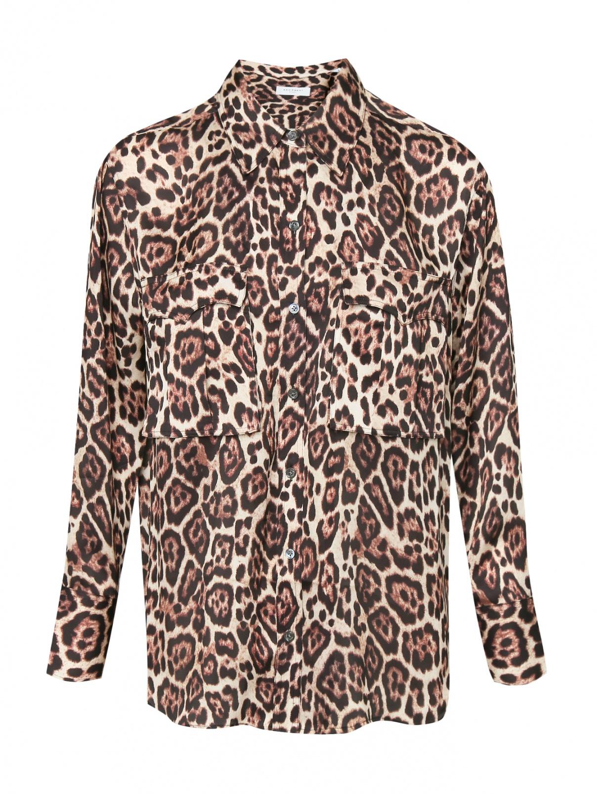 Блуза свободного кроя с узором Equipment  –  Общий вид