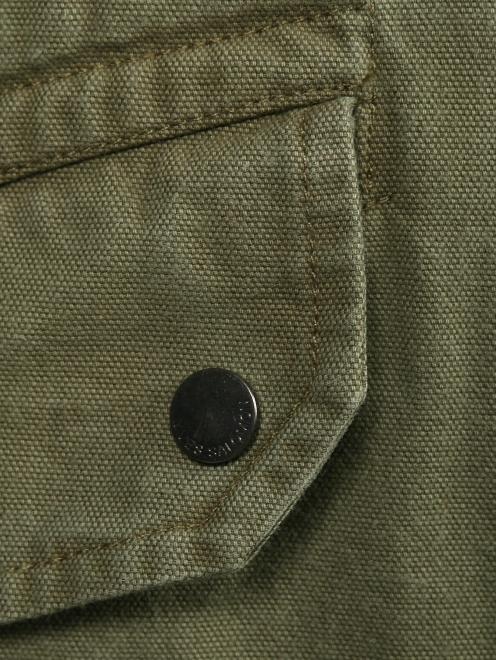 Куртка из хлопка с меховой подкладкой Yves Salomon - Деталь1