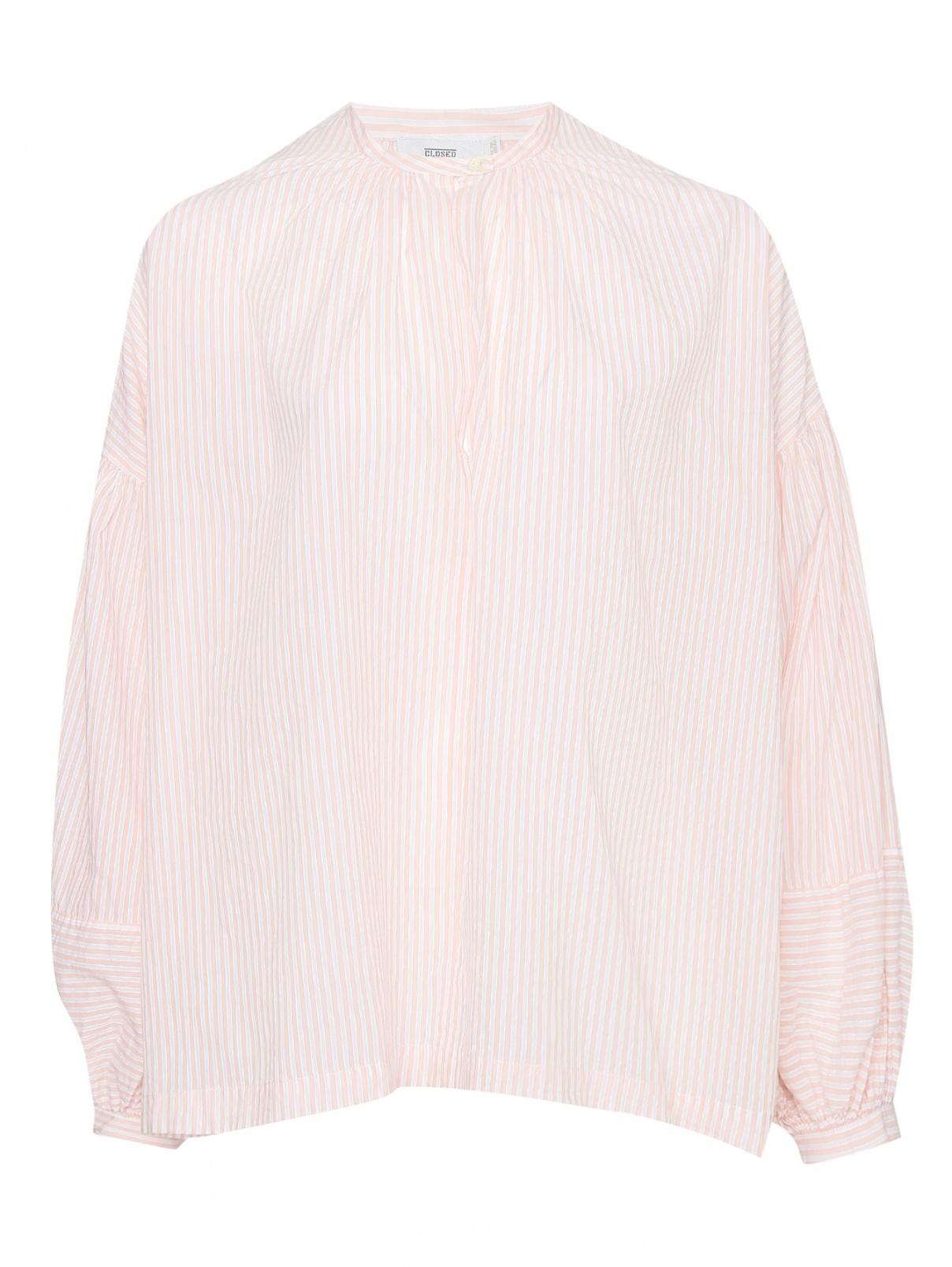 Рубашка из хлопка в полоску свободного кроя CLOSED  –  Общий вид