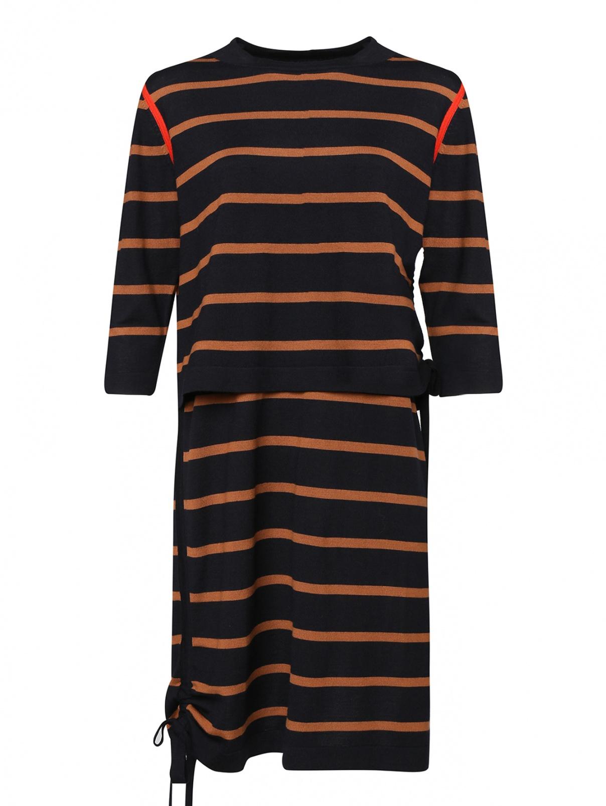 Платье и джемпер из шерсти в полоску Paul Smith  –  Общий вид