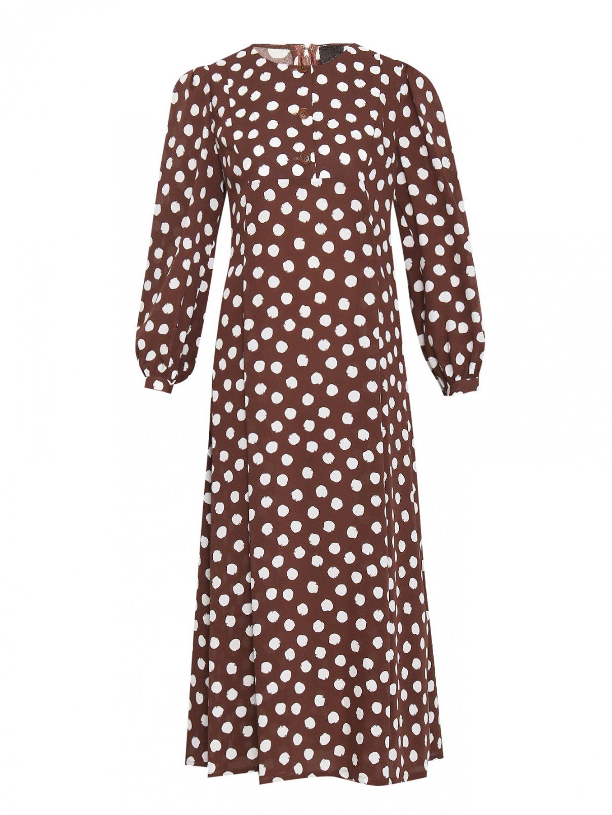 Платье из шелка с узором Ulyana Sergeenko  –  Общий вид
