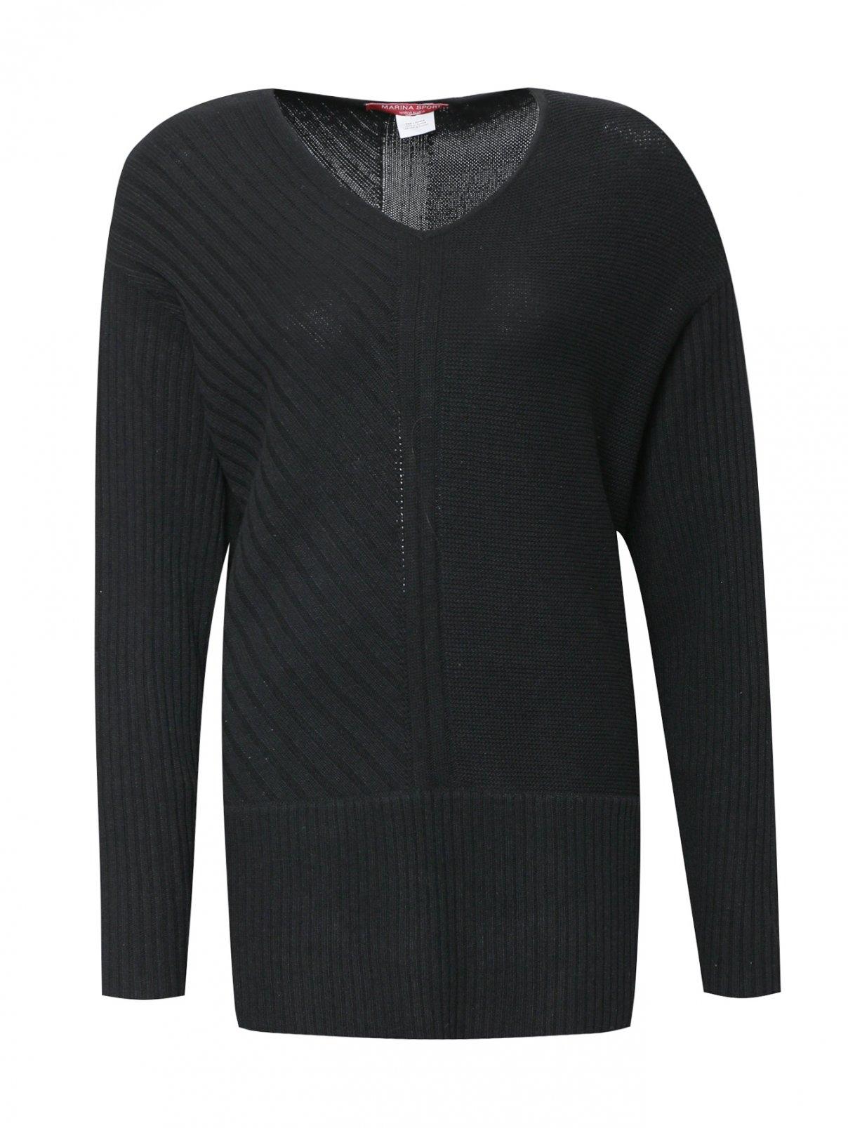 Джемпер фактурной вязки с длинными рукавами Marina Sport  –  Общий вид