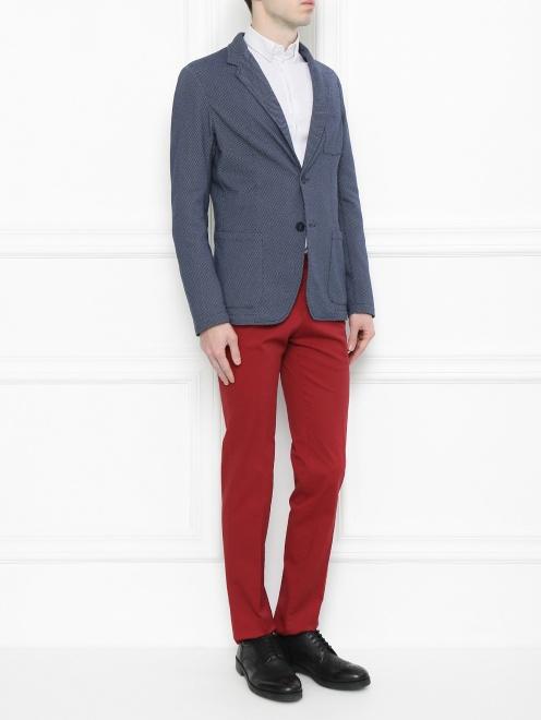 Пиджак из хлопка с узором - Общий вид