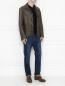 Куртка из кожи на пуговицах Etro  –  МодельОбщийВид